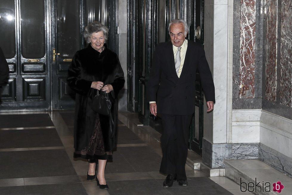 Carlos Zurita y Ana de Francia en el 80 cumpleaños de la Infanta Margarita