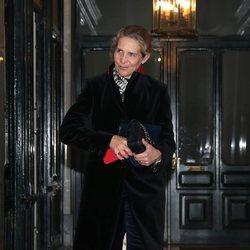 La Infanta Elena en el 80 cumpleaños de la Infanta Margarita
