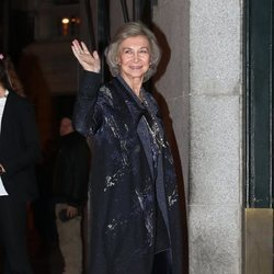 La Reina Sofía en el 80 cumpleaños de la Infanta Margarita