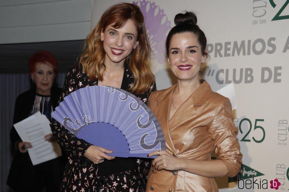 Leticia Dolera y Nuria Gago en la entrega de premios 'Club de las 25'