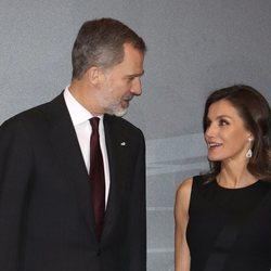 Los Reyes Felipe y Letizia en un homenaje a las víctimas del terrorismo