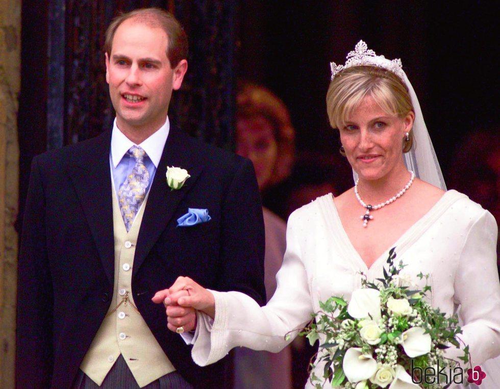 Los Condes de Wessex el día de su boda