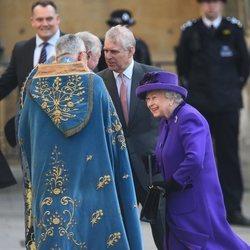 La Reina Isabel y el Duque de York en el Día de la Commonwealth 2019