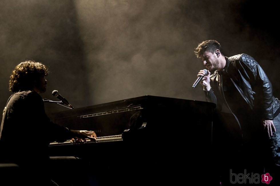 Cepeda, al piano durante su concierto en Madrid