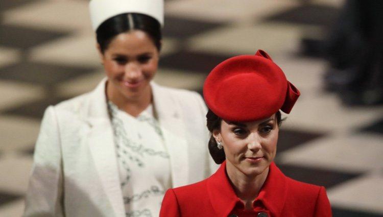 Kate Middleton y Meghan Markle en el Día de la Commonwealth 2019