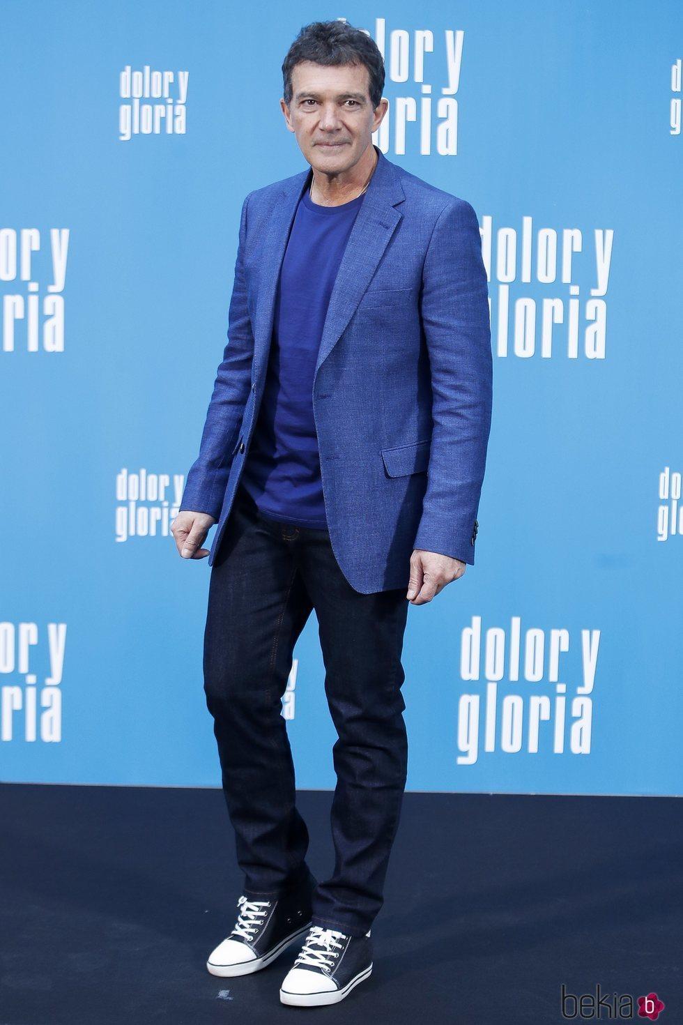 Antonio Banderas en la presentación de 'Dolor y gloria'