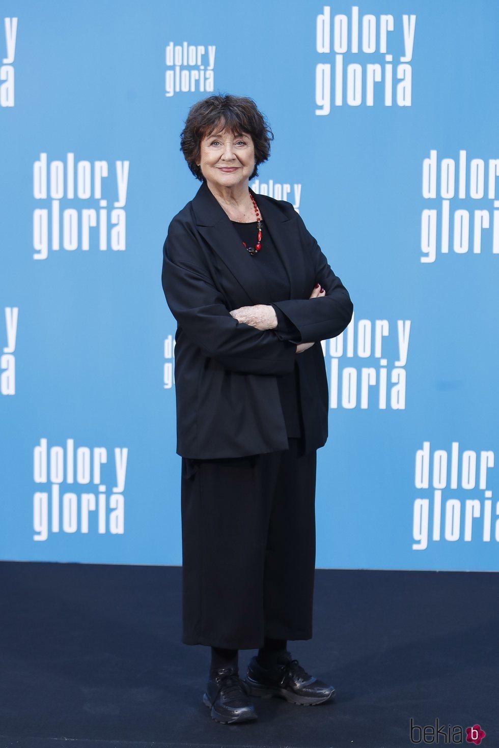 Julieta Serrano en la presentación de 'Dolor y gloria'