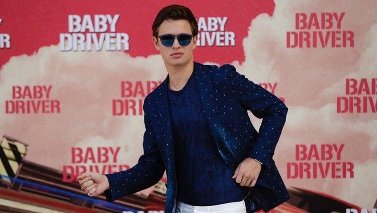 Ansel Elgort en la promoción de 'Baby Driver'