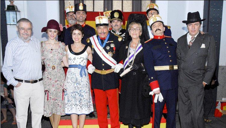 Pilar Bardem en el rodaje de la película Martes de Carnaval'