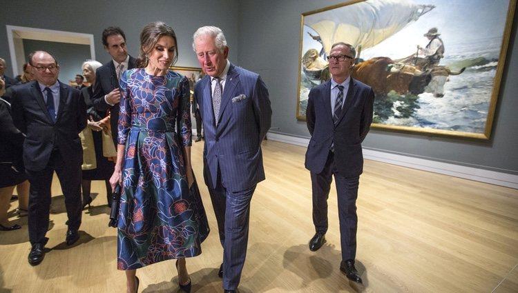 La Reina Letizia y el Príncipe Carlos, muy cómplices en la inauguración de la Exposición 'Sorolla: Spanish Master of Light'