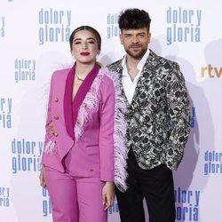 Ricky Merino y Mimi en la alfombra roja de 'Dolor y gloria'