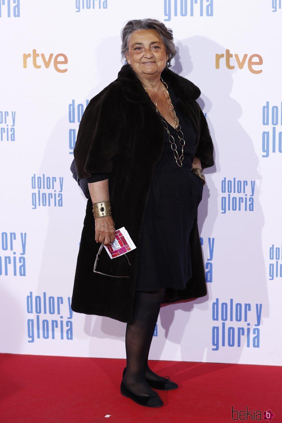 Elena Benarroch en la alfombra roja de 'Dolor y gloria'