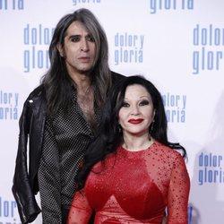 Alaska y Mario Vaquerizo en la alfombra roja de 'Dolor y gloria'