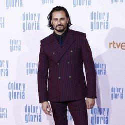 Asier Etxeandía en la alfombra roja de 'Dolor y gloria'