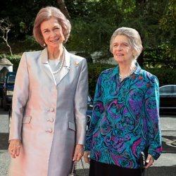 La Reina Sofía e Irene de Grecia en la boda del Príncipe Leka de Albania y Elia Zaharia