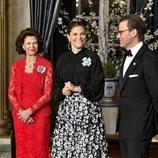 Silvia de Suecia, Victoria y Daniel de Suecia, muy cómplices en la recepción a Stefan Löfven, Primer Ministro de Suecia