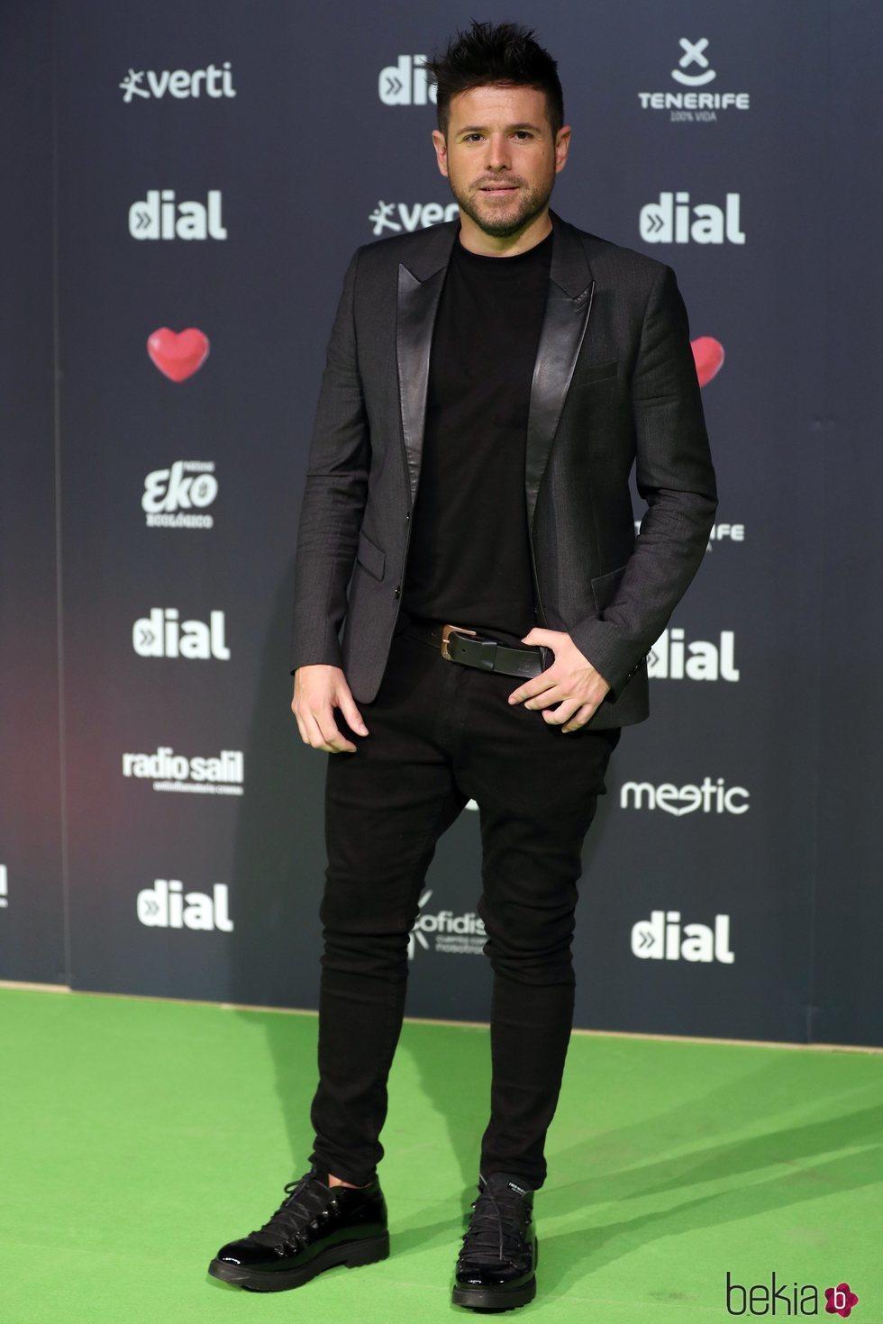 Pablo López en los Premios Cadena Dial 2019 en Tenerife