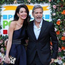 George y Amal Clooney en la gala benéfica People's Postcode Lottery