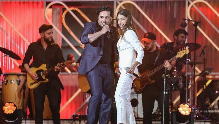 David Bustamante y Ana Guerra en los Premios Dial 2019 en Tenerife