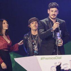 Cepeda recogiendo su Premio Dial 2019 en Tenerife