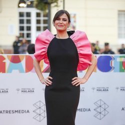 Elena Sanchez en la alfombra roja del Festival de Cine de Málaga 2019