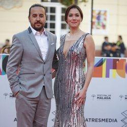 Elena Martínez en la alfombra roja del Festival de Cine de Málaga 2019
