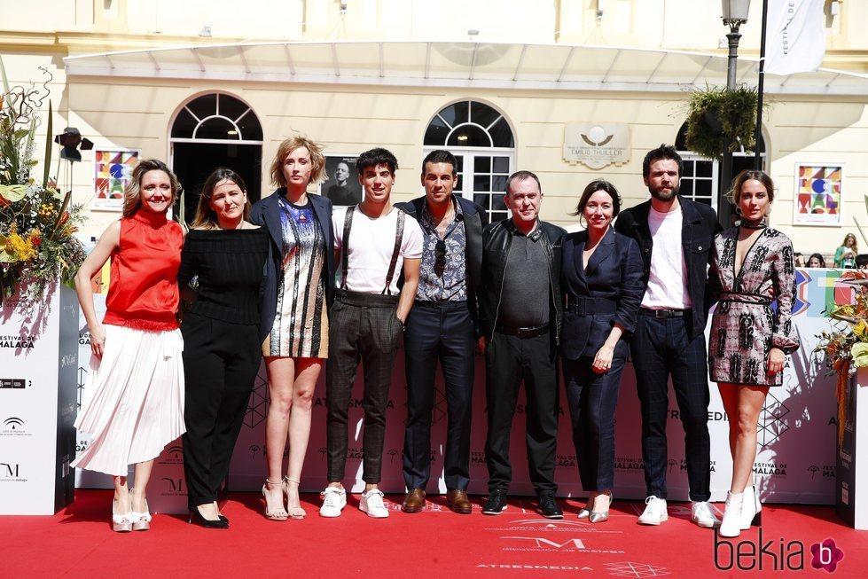Elenco de la serie 'Instinto' en el Festival de Cine de Málaga 2019