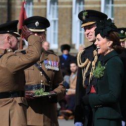 El Príncipe Guillermo y Kate Middleton en el Desfile de San Patricio