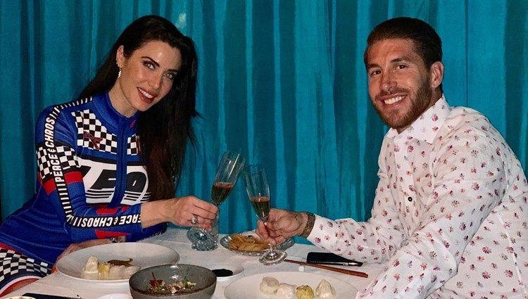 Pilar Rubio celebrando su 41 cumpleaños con una romántica cena con Sergio Ramos