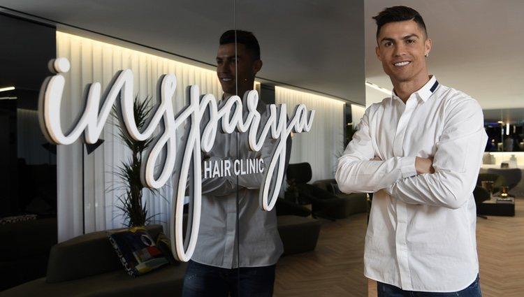 Cristiano Ronaldo en la inauguración de la clínica de transplante capilar 'Insparya'