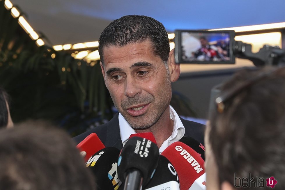 Fernando Hierro en la fiesta de inauguración de 'Insparya'