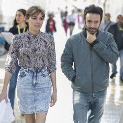 Rodrigo Sorogoyen y Marta Nieto paseando por Málaga