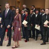 El Rey Felipe VI y la Reina Letizia clausuraron la entrega de los Premios Nacionales de Cultura 2019