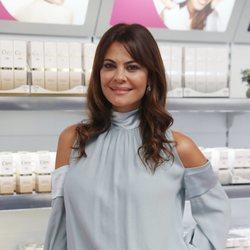 María José Suárez en un evento de cremas faciales