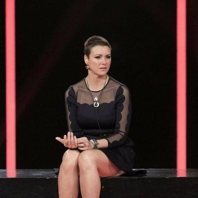 María Jesús Ruiz llorando en la sala de expulsión después de salvarse en la gala 12 de 'GH DÚO'
