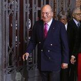 El Rey Juan Carlos con un hematoma en el ojo en la presentación de carteles de la Feria de San Isidro 2019