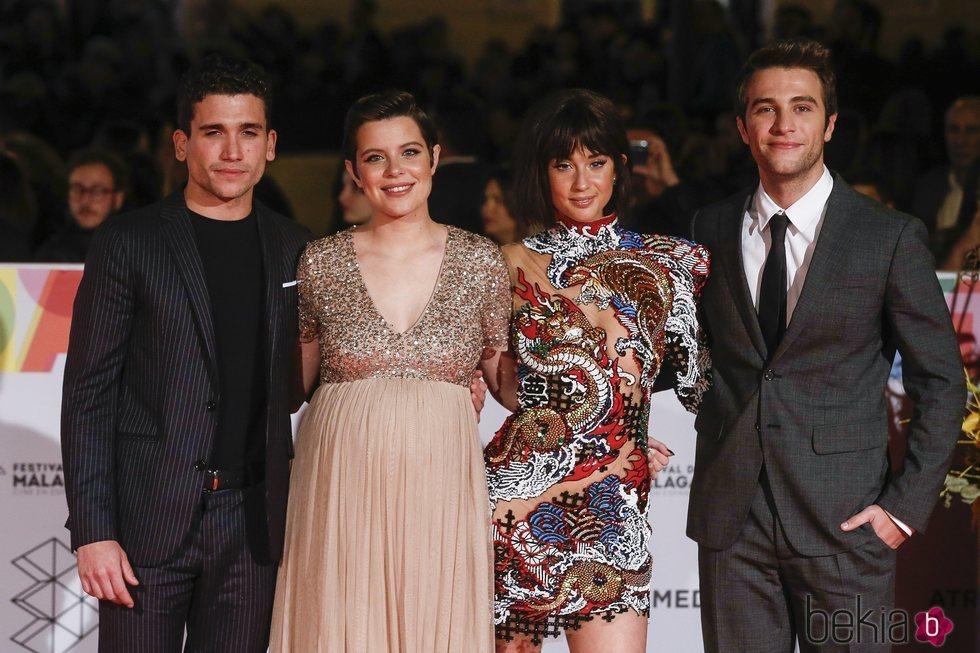 María Pedraza, Jaime Llorente, Pol Monen y Andrea Ros en la alfombra roja del Festival de Cine de Málaga 2019