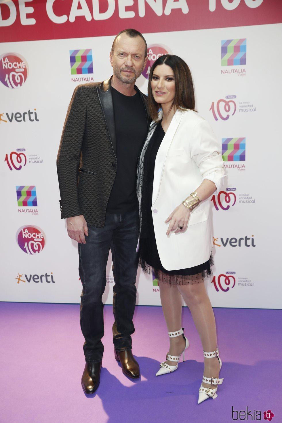 Laura Pausini y Biagio Antonacci en La Noche de Cadena 100
