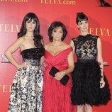 Paz Vega y Sara Vega junto a su madre en los Premios Telva Moda 2010