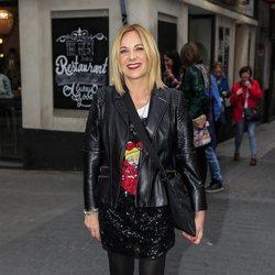 Belén Rodríguez llegando a su fiesta de cumpleaños