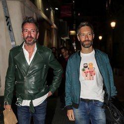 David Valldeperas y Xoan Viqueira en el cumpleaños de Belén Rodríguez