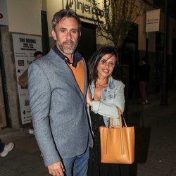 Alonso Caparros y Angelica Delgado en el cumpleaños de Belén Rodríguez