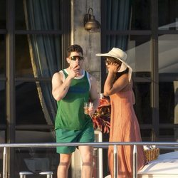 Nick Jonas y Priyanka Chopra a bordo de un yate