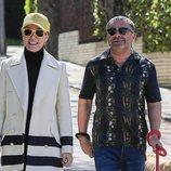 Raquel Sánchez Silva y Jorge Javier Vázquez dando un paseo por Madrid