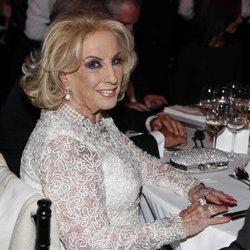 Mirtha Legrand en la cena de gala por el Viaje de Estado de los Reyes Felipe y Letizia a Argentina