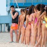 Nick Jonas, durante la grabación de un videoclip de los Jonas Brothers