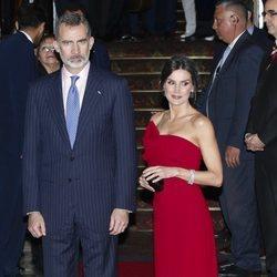 El Rey Felipe VI y la Reina Letizia en la cena de honor al Presidente Macri y la Primera Dama durante su Viaje de Estado a Argentina