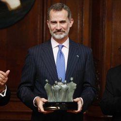 El Rey Felipe VI recibe el premio de honor en el Congreso Judío Latinoamericano durante el Viaje de Estado de los Reyes Felipe VI y Letizia a Argentina