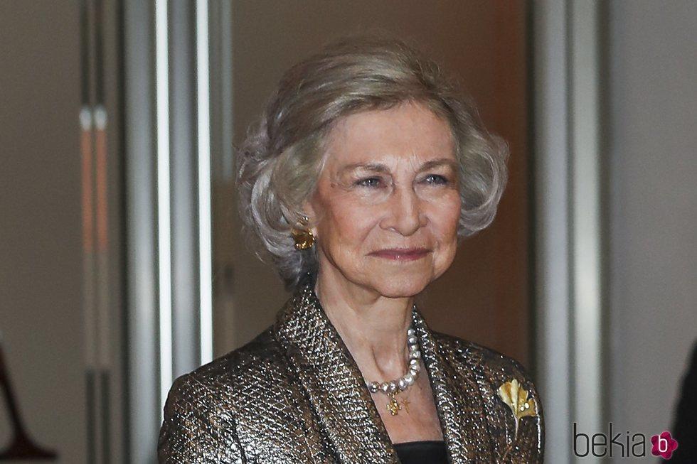 La Reina Sofía, sonriente en un concierto de la Agencia EFE