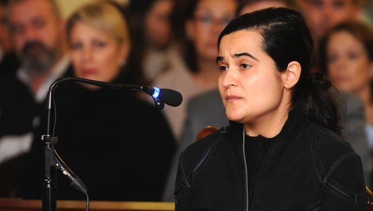 Triana Martínez durante su declaración en el juicio por el asesinato de Isabel Carrasco